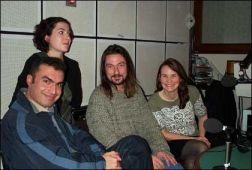 The Angel 6 Quartet in the studio