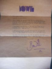 David Bowie wrote back!
