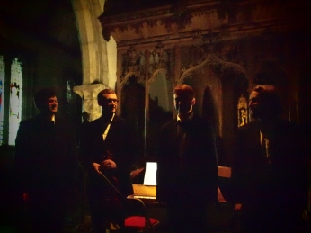 Alex McCartney, Theorbo; George Clifford, Violin; Donald Bennet, Viol; Joseph Chesshyre, Spinet