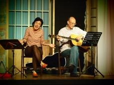 Edina Molnar and guitarist Jeff