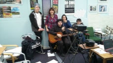 With some of my ace songwriting group - Jack, Chris, Tin Tin and Alex