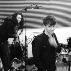 Ysabelle and Liam, cool cucumbers in the studio