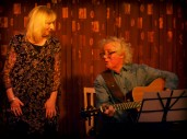 Gifford Rolfe and Joan Foye – here's Gifford and Joan leading the singing, following Gifford's brand new songs about Joni Mitchell and the effects of a freak Hebridean storm.