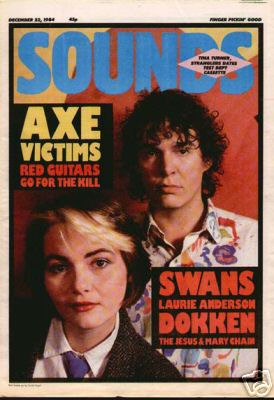 Me & Hal on the cover of Sounds - My Fantastic Past