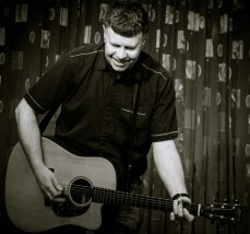...Martin Peirson with his low slung acoustic telecaster