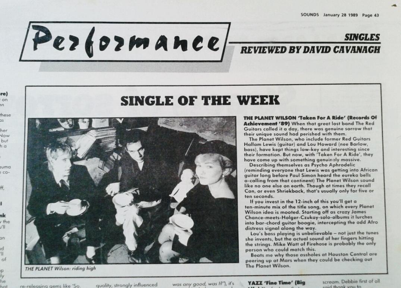 Row single of the week