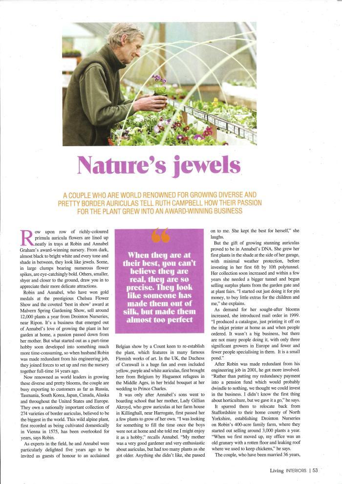 Northern Echo - Living magazine p1