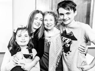 Frankie, Christa, Mum and Dex