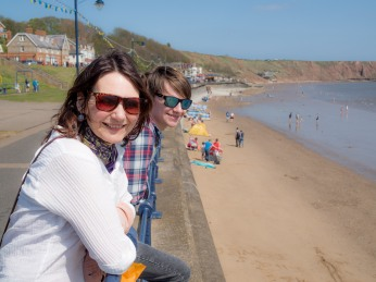 Lou and Dex in Filey